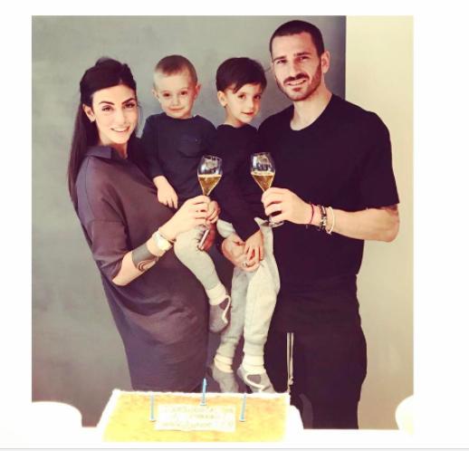 Juventus Ace Bonuccis Wife Martina Maccari Shares Bizarre Toilet Selfie Leaving Fans Unhappy
