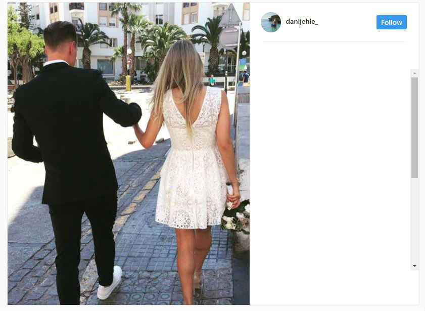 Oh Shes A Keeper!   Barcelona Star Ter Stegen Ties The Knot With German Hottie