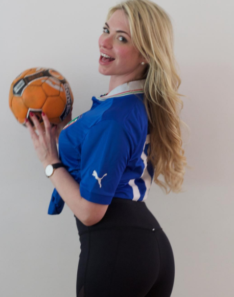Playboy Model April Summers Begs Atletico Boss Simeone To Take Over As Inter Milan Boss