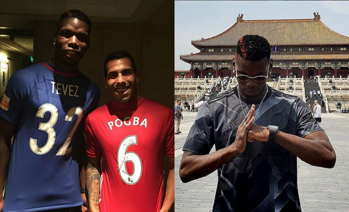 d3d39009a3e Pogba Meets Up Ex- Juventus Team-Mate Tevez As He Continues His Tour Of  China