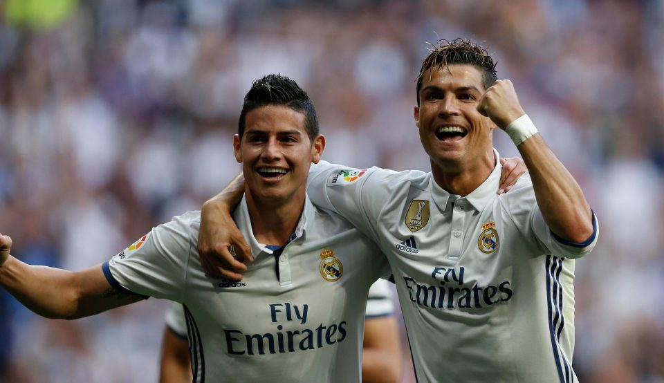 Cristiano Ronaldo Trolls Man Utd Target James Rodriguez Over New Look