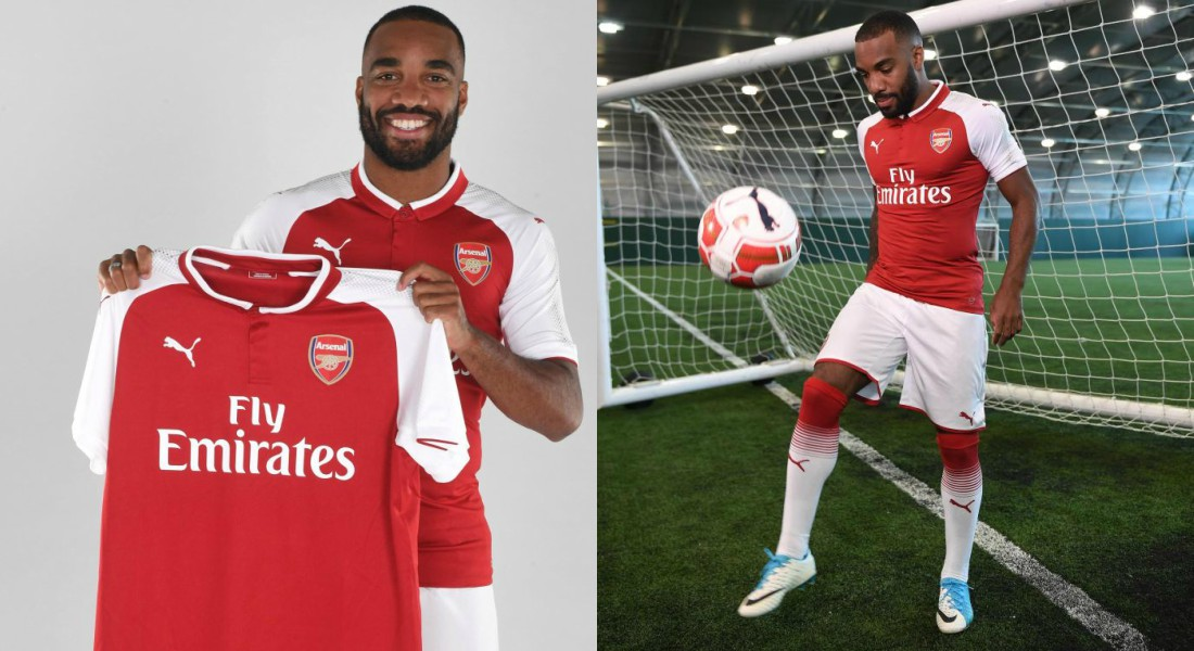Alexandre Lacazette Offers Arsenal Shirt To Fan Who Got His Face Tattooed On His Bum