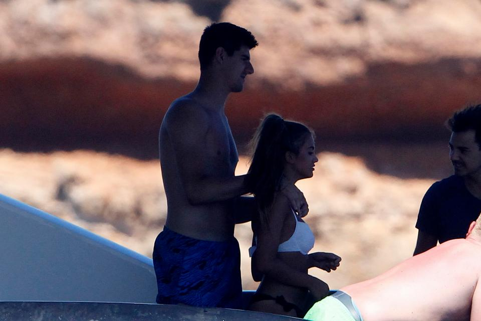 Thibaut Courtois witha mystery woman