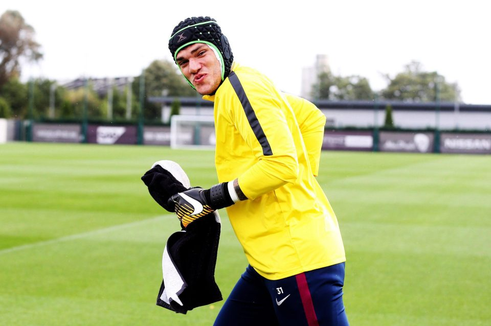 Ederson Wears Skullcap On Return To Man City Training As Liverpool Appeal Severity Of Sadio Manes Ban