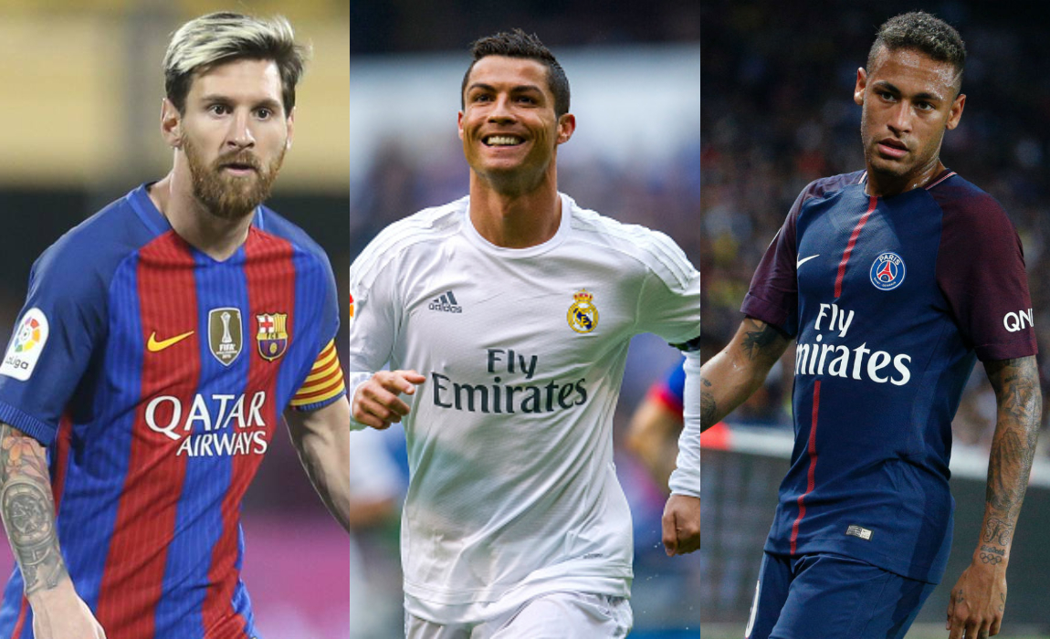 Ronaldo, Messi And Neymar Up For 2017 Best FIFA Men's ...