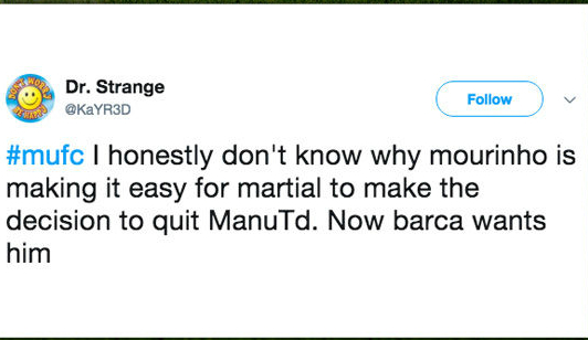 Man Utd Fans React Angrily As Anthony Martial Is Linked With Arsenal And Barcelona