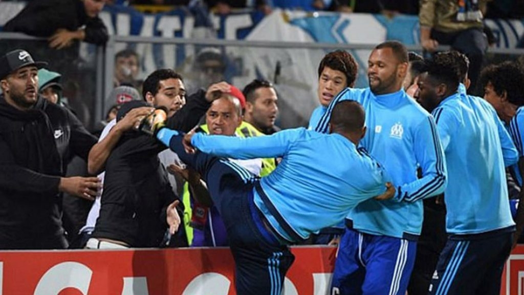 Patrice Evra Sacked By Marseille After UEFA Bans Him For Kung Fu Kick On Fan