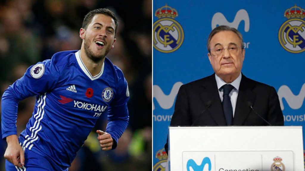 Real Madrid President Florentino Perez Willing To End Chase For Chelsea Star Eden Hazard Because Of Marco Asensio Pact