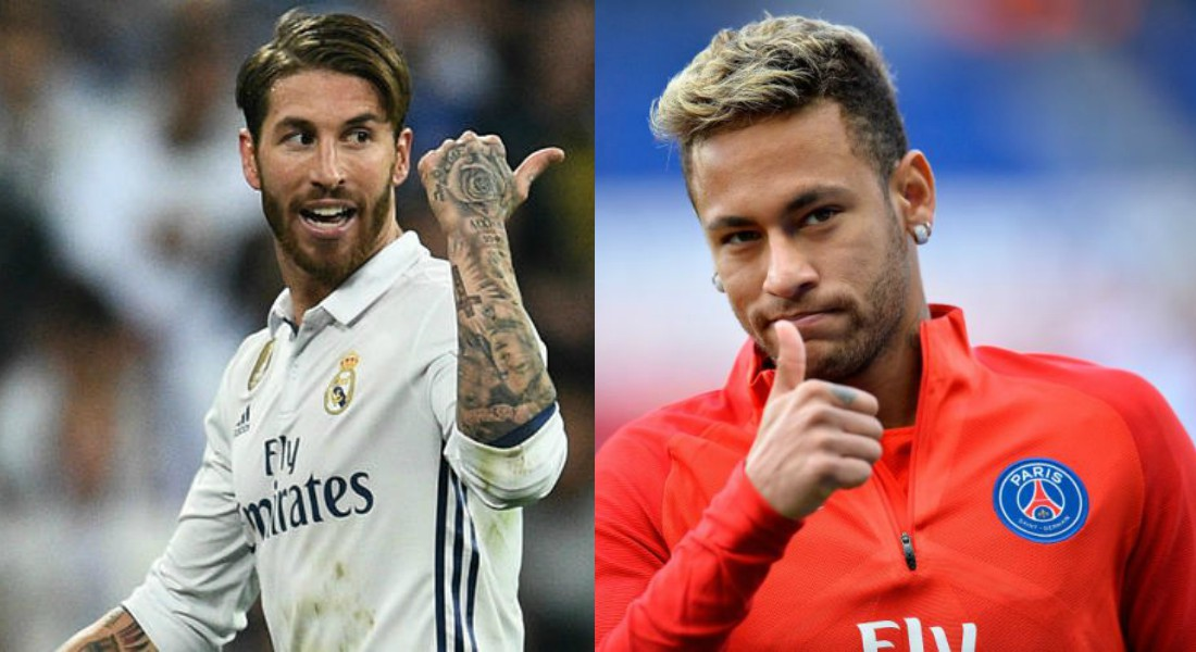 Image result for Neymar and Ramos