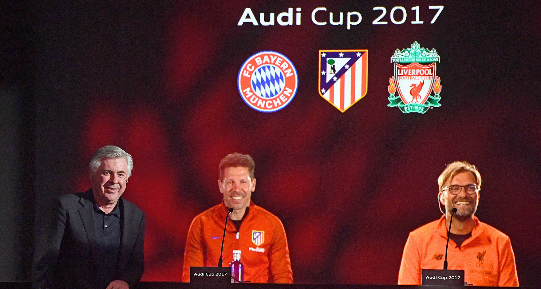 Prior to this years Audi Cup, the press conference featured holograms of Jürgen Klopp and Diego Simeone