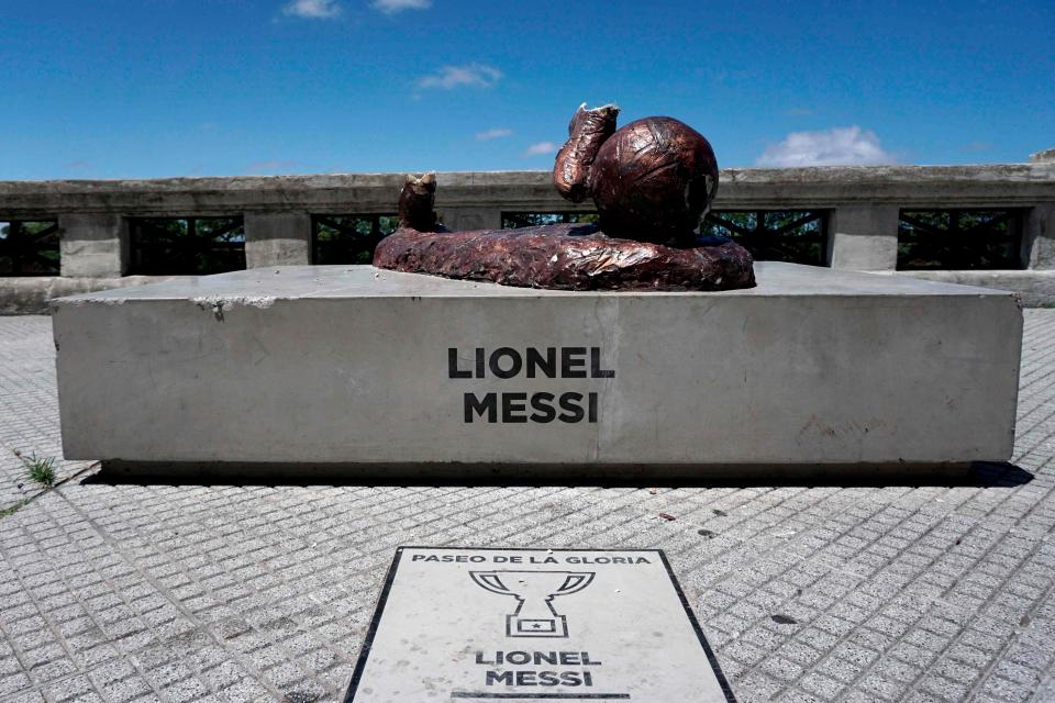 Lionel Messi Statue Destroyed By Vandals In Argentina For The Second Time In A Year