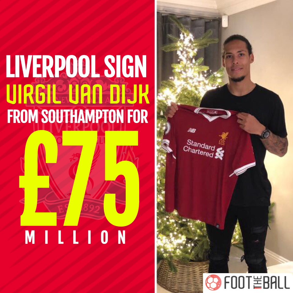new styles e4011 587ba Liverpool Announce £75M Signing Of Van Dijk As He Poses With ...