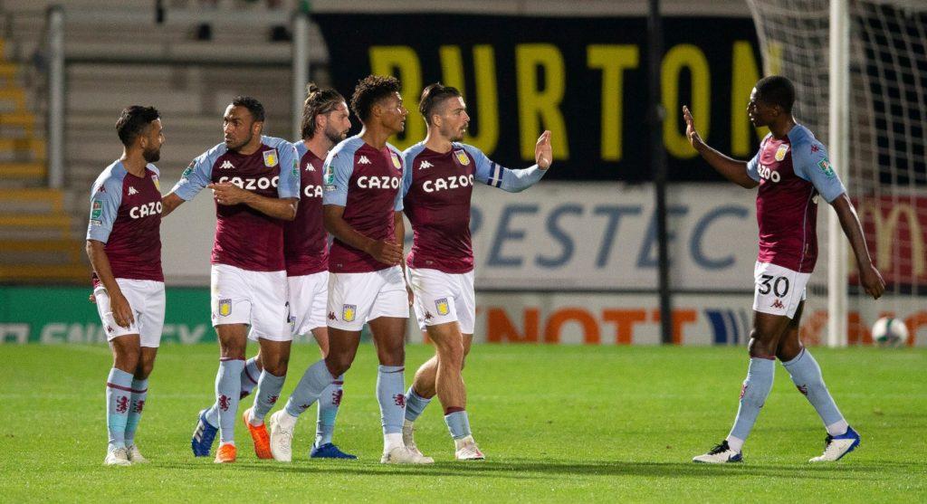 Aston Villa celebrating