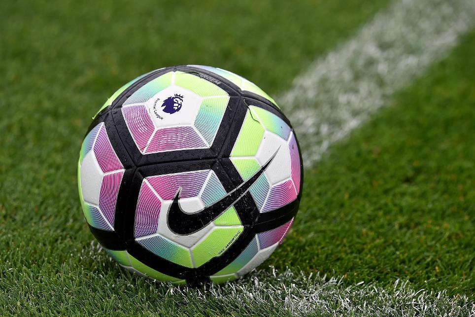 Premier League Ball Kicking off