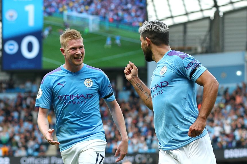 Aguero De bruyne celebration
