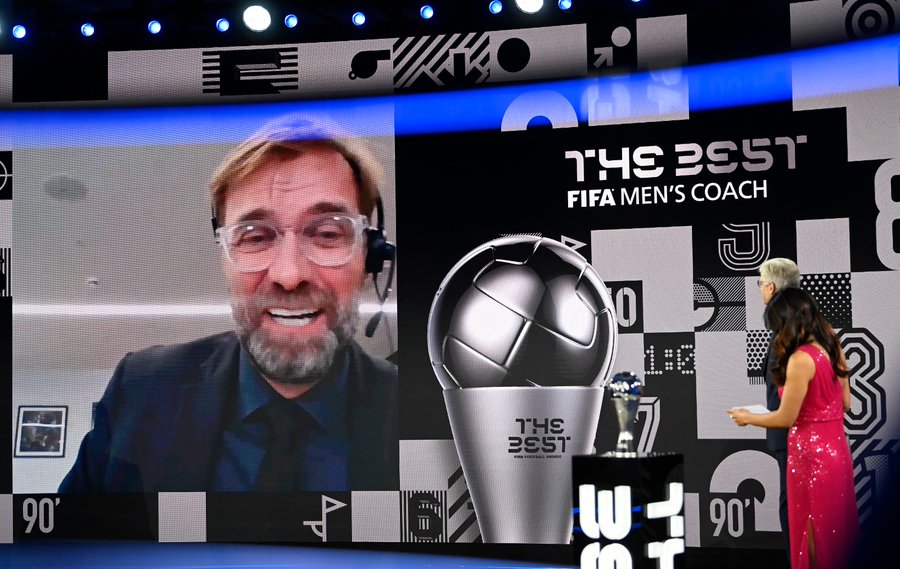 Klopp winning FFA BEST AWARD