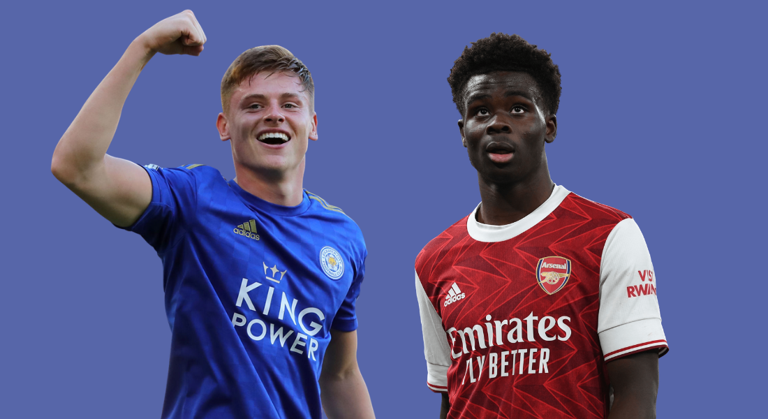 Harvey Barnes and Bukayo Saka
