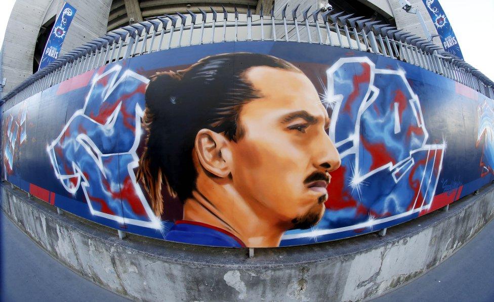 murals in parc des princes