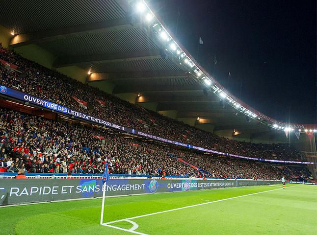 psg stadium paris stand