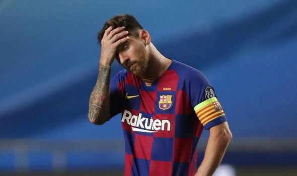 Messi after defeat to Bayern Munich