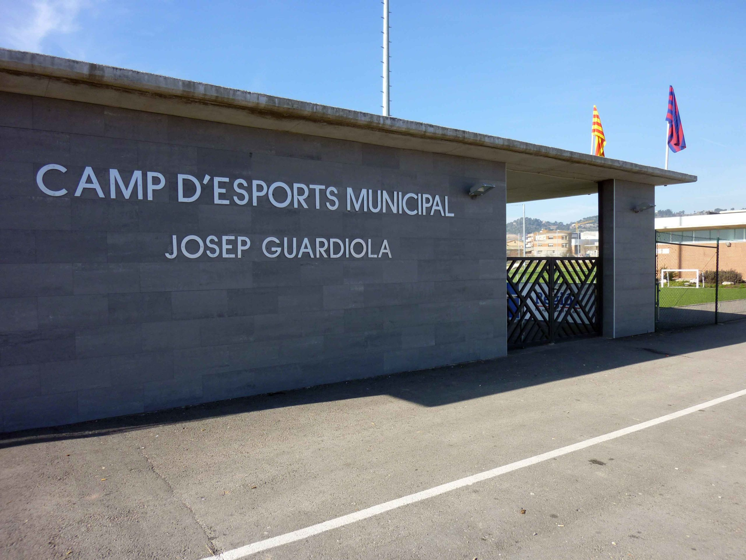 The sports complex in Santpedor named after Pep Guardiola