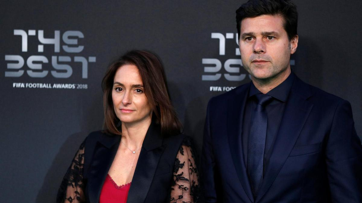 Mauricio Pochettino with his wife