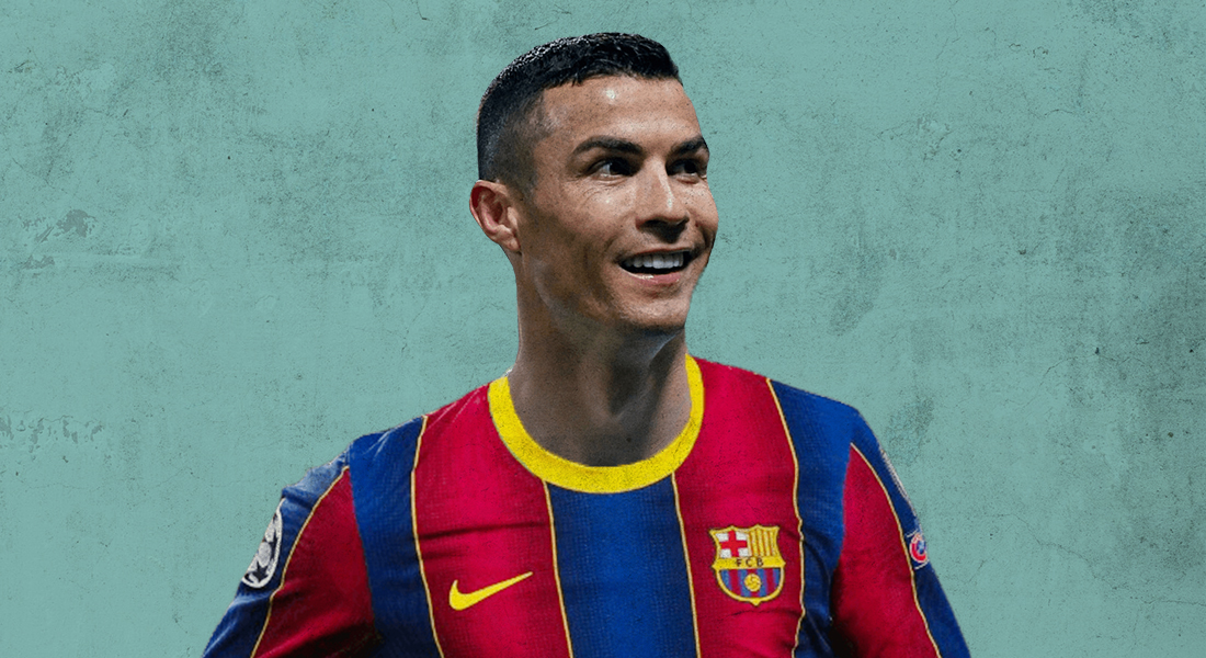 Ronaldo signs for Barcelona instead of Real Madrid