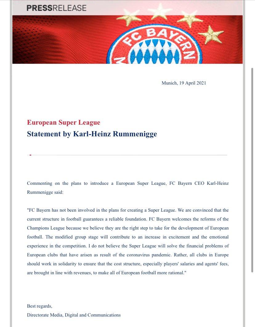 Bundesliga's 50+1 rule and the European Super League