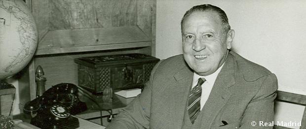 Real Madrid Chairman for 35 years Santiago Bernabeu