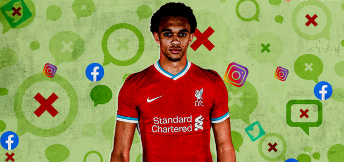 Social media abuse football