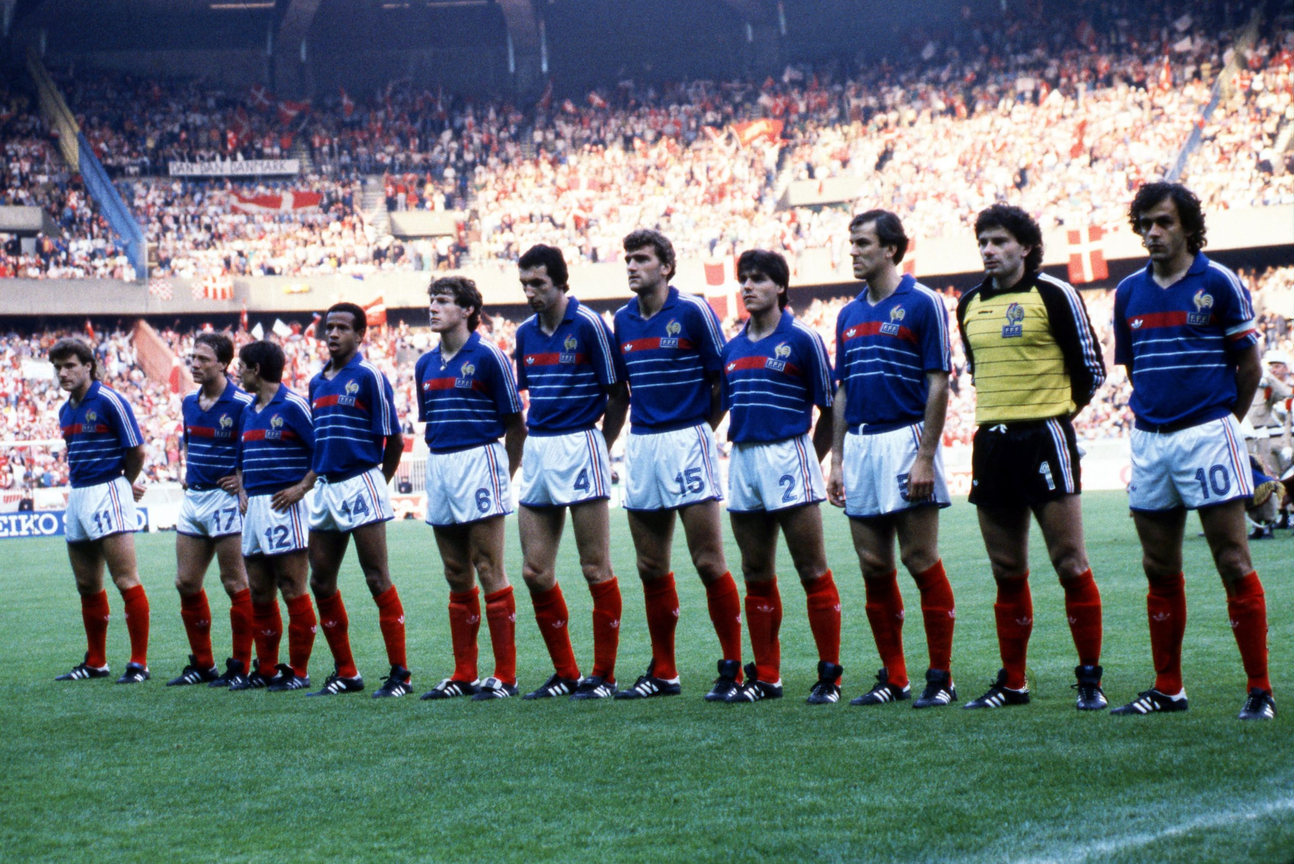 France team lined up at the Euro 1984