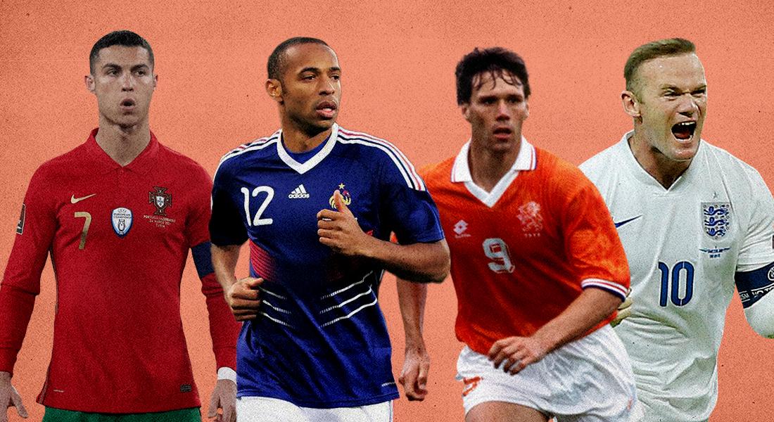 best strikers euros