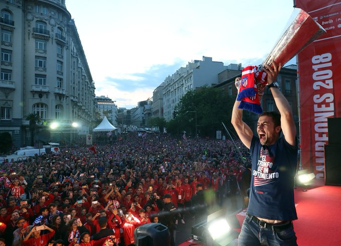 Atletico Madrid vs Barcelona La Liga title race 2014