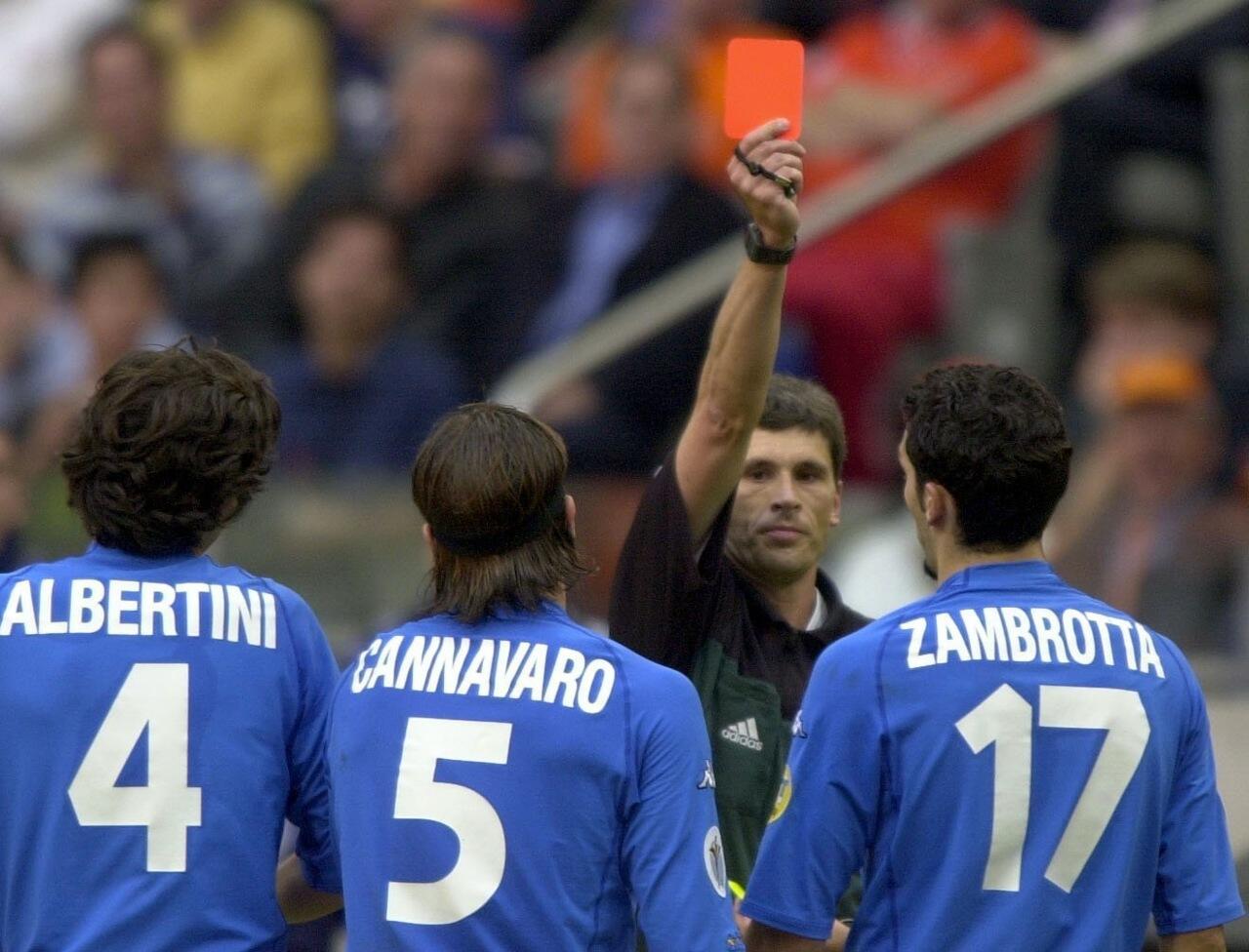 Francesco Toldo saves 3 penalties vs Netherlands