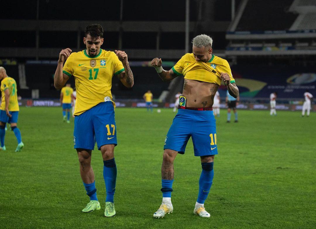 Lucas Paqueta and Neymar