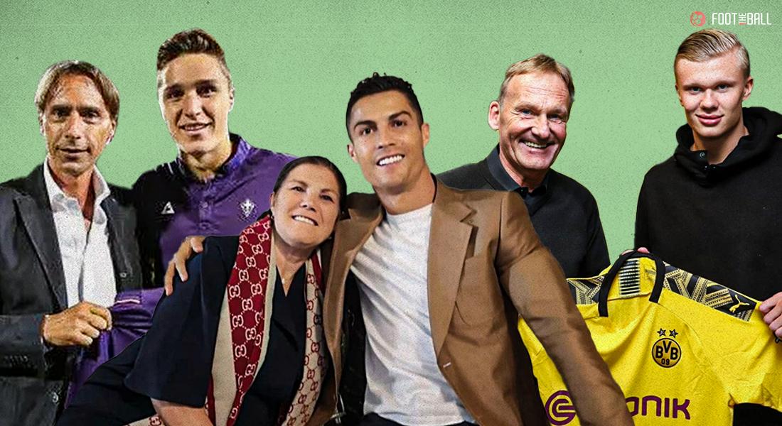 Enrico Chiesa, Federico Chiesa, Dolores Aviero, Cristiano Ronaldo, Alf-Inge Haaland, Erling Haaland