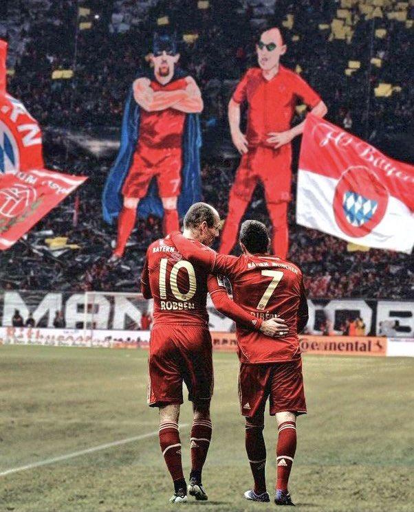 Arjen Robben and Frank Ribery
