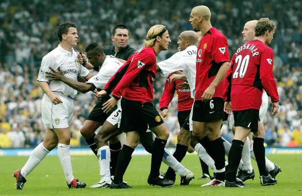 Leeds and Manchester United players