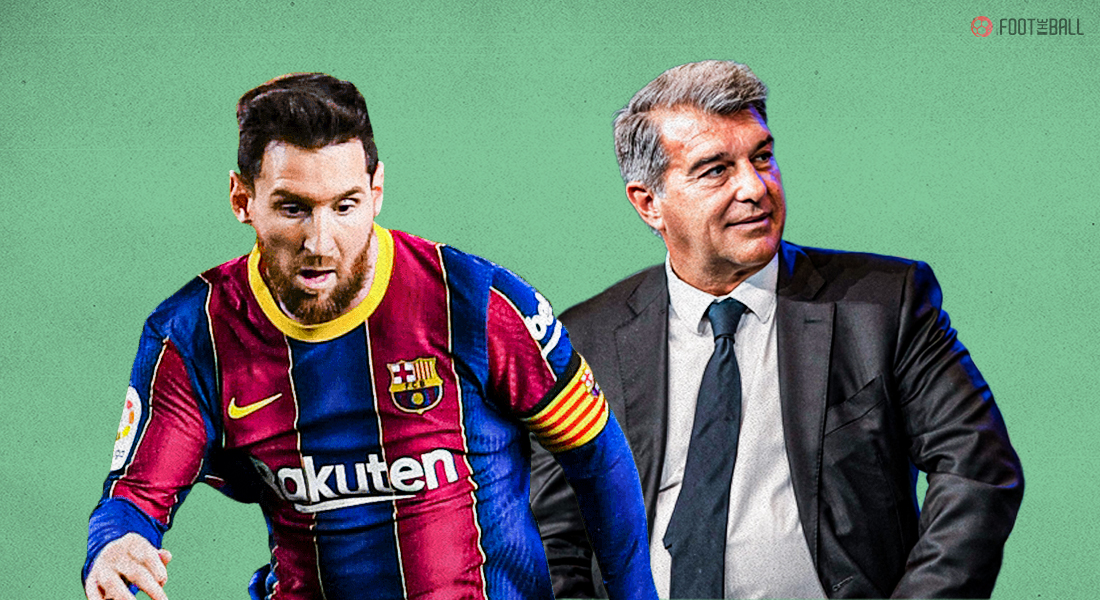 What did Joan Laporta say about the departure of Lionel Messi from FC Barcelona?