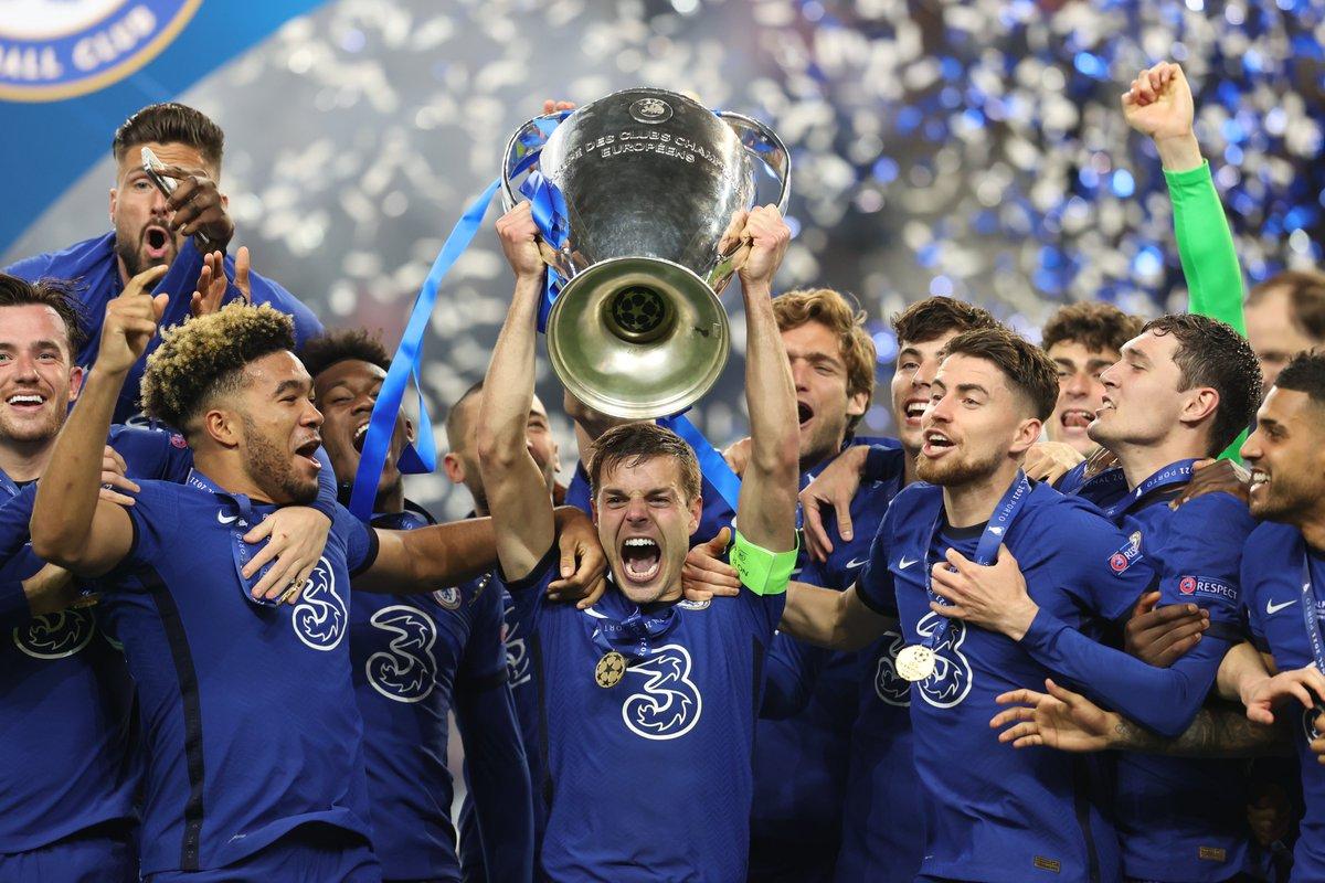 Chelsea winning UCL