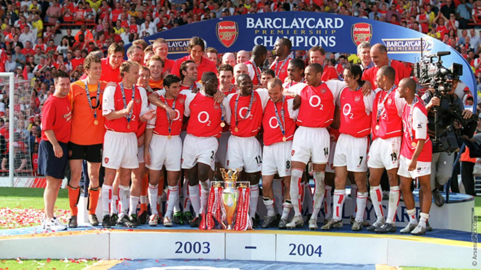 Arsenal 2003-04 premier league winning squad