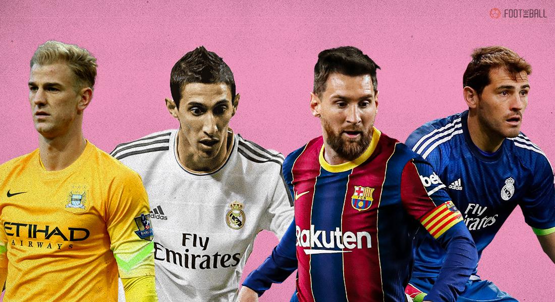 Joe Hart, Angel Di Maria, Lionel Messi, Iker Casillas