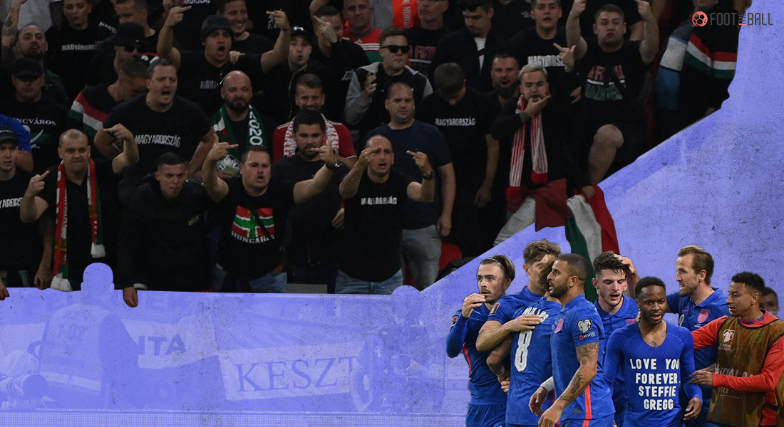 Hungary supportes targeting England players