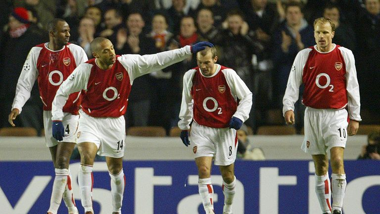 Patrick Vieira, Thierry Henry, Freddie Ljungberg, Dennis Bergkamp